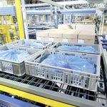 belt conveyor / roller / for trays / transport