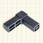 Square tube connector 7640001 Ave Trans. Mec.