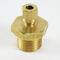 screw-in fitting / straight / hydraulic / brass