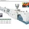tube extrusion line / for PVC / for spiral tubes / for drainage pipes