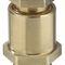 Nickel-plated brass cable gland / IP54 / straight / threaded KVMS series WISKA
