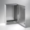 wall-mount enclosure / rectangular / stainless steel / with hinged cover