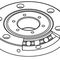 crossed roller bearing / single-row / steel / high-precision