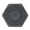 machine foot / rubber / anti-vibration / threaded