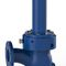 electric valve / regulating / for wastewater / right-angle