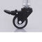 swivel caster / rod / with brake / flanged