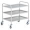 Service cart / aluminum / stainless steel / shelf ETWE/A series LKE GmbH - Experts in Material Handling