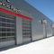 sectional door / aluminum / hangar / industrial