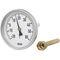 bimetallic thermometer / analog / insertion / dial