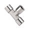 threaded fitting / T / hydraulic / pneumatic
