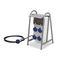 construction site electrical enclosure / equipped / plastic / power distribution