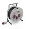 cable reel / self-retracting / transportable / corrosion-resistant