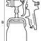 spray gun / for paint / manual / suction