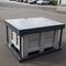 plastic pallet box / storage / for used batteries / with lid
