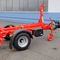 single-axle trailer / for industrial materials / container / hydraulic