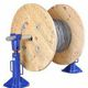 mechanical jack / for lifting / for heavy-duty applications / cable drum