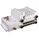 spool pneumatic directional control valve / direct-operated / aluminum / modular