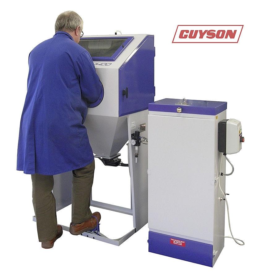guyson blast cabinet for 3d prototype finishing