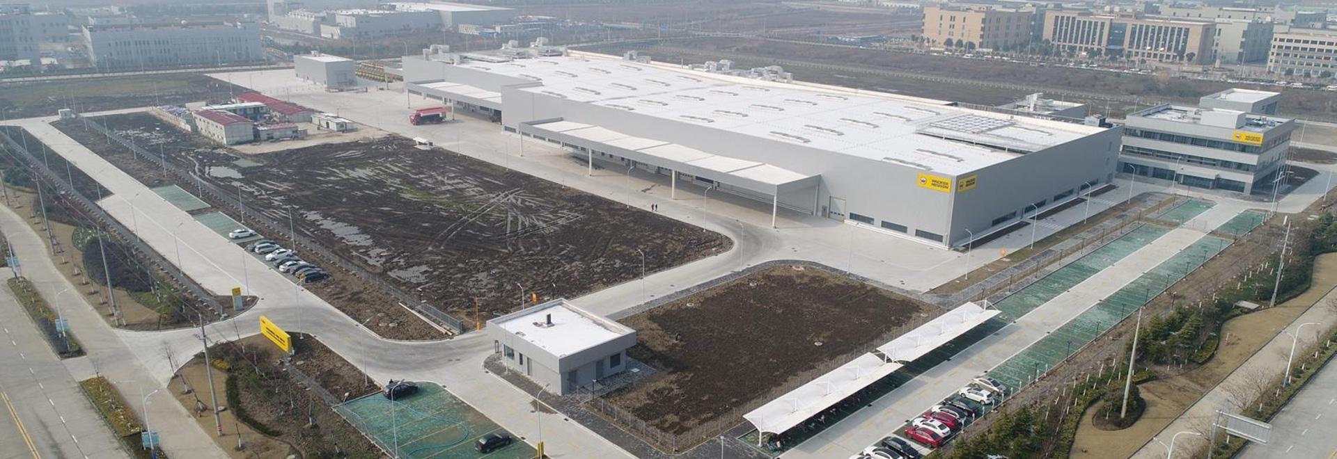Aerial view of Wacker Neuson's new facility in Pinghu, China