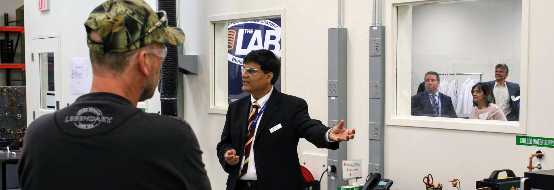 Ambrell's Dr. Dahake giving an induction heating demonstration