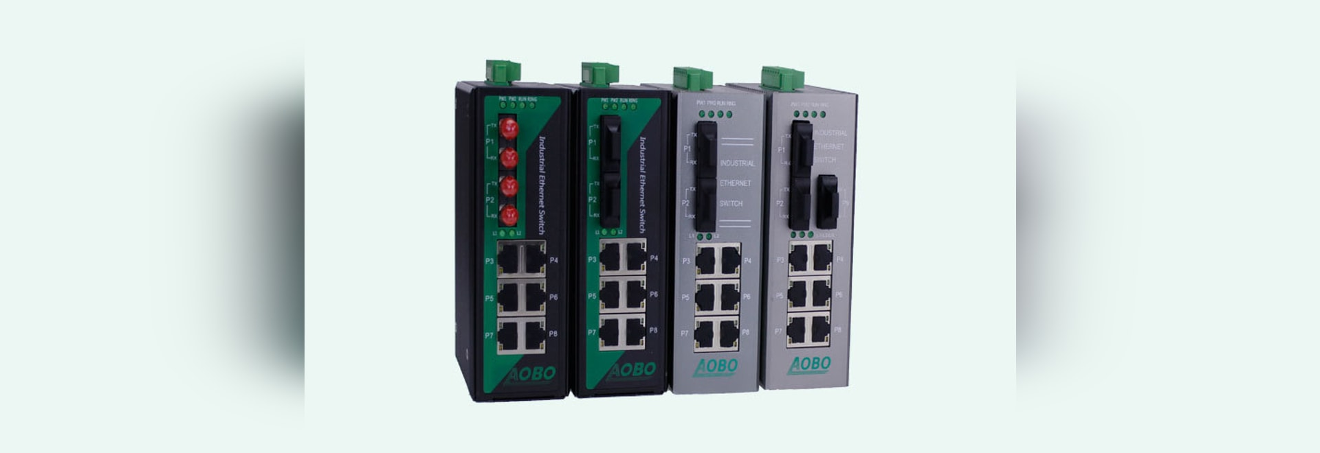 AOBO 9-ports Managed Network Industrial Switches With Rail-type