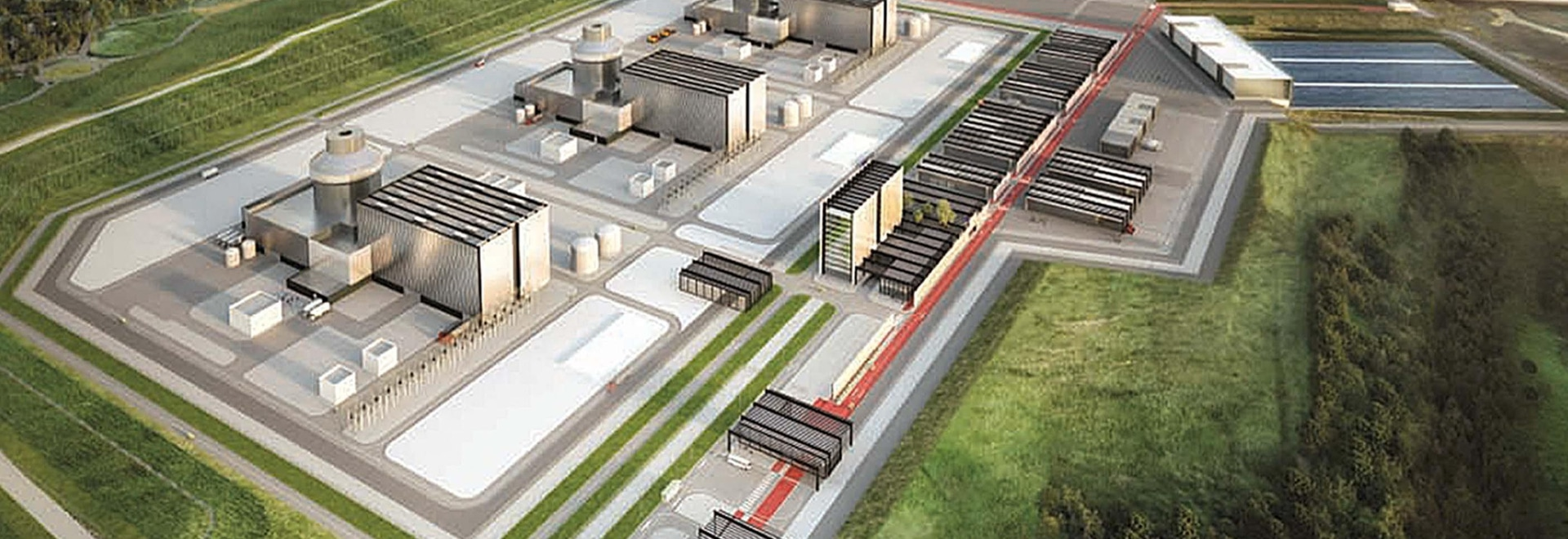 Artistic rendering of the Moorside nuclear power station