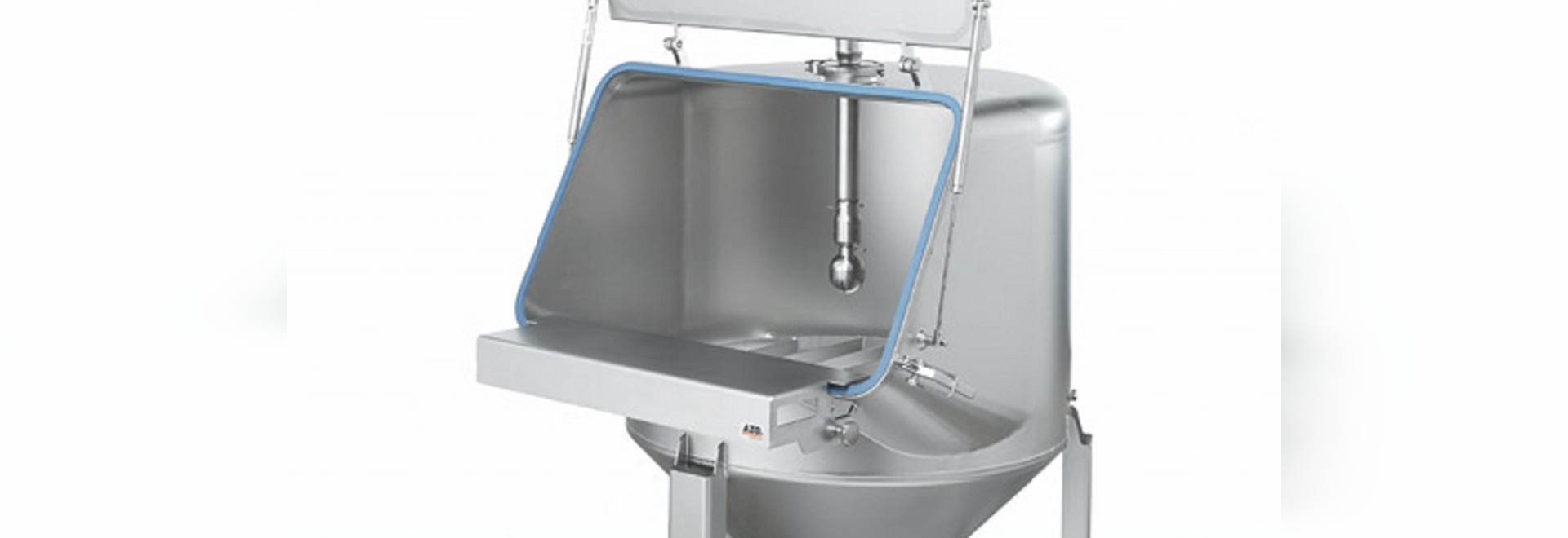 AZO Feeding hopper in hygienic design