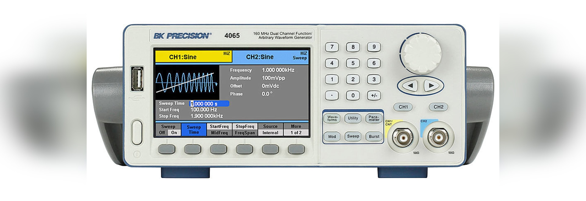 Bk Precision Debuts New Family Of Dual Channel Function Arbitrary Generators Waveform