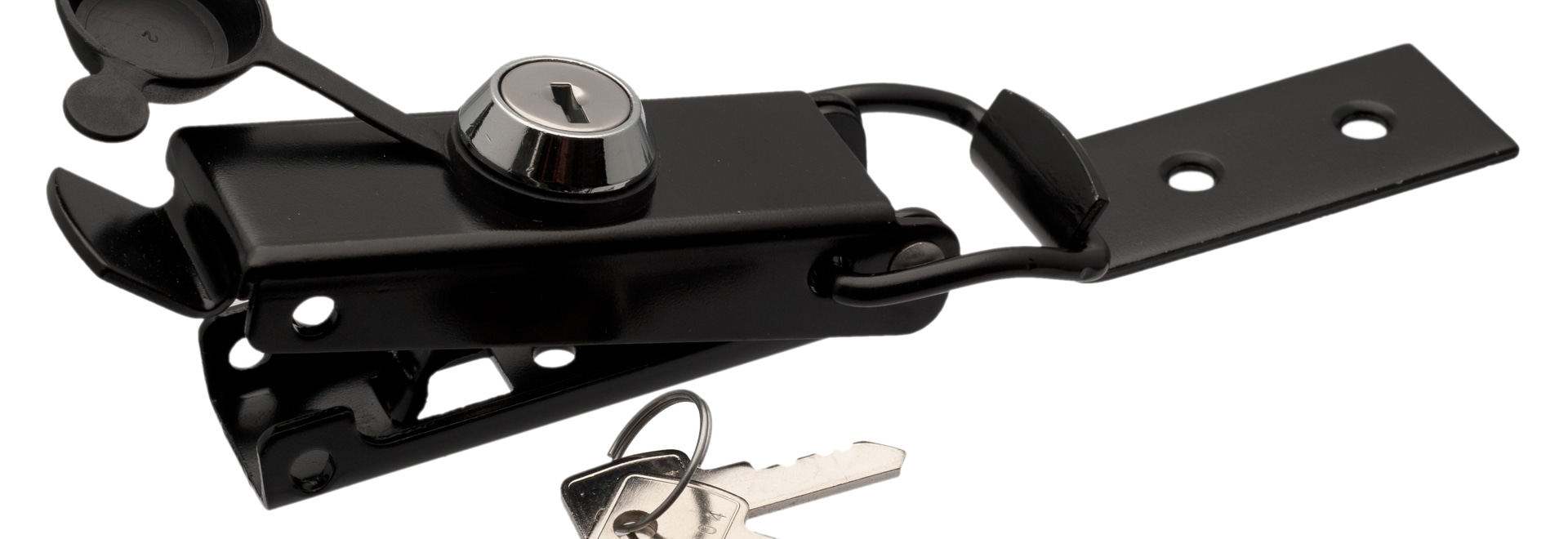Black toggle latch with key-lock