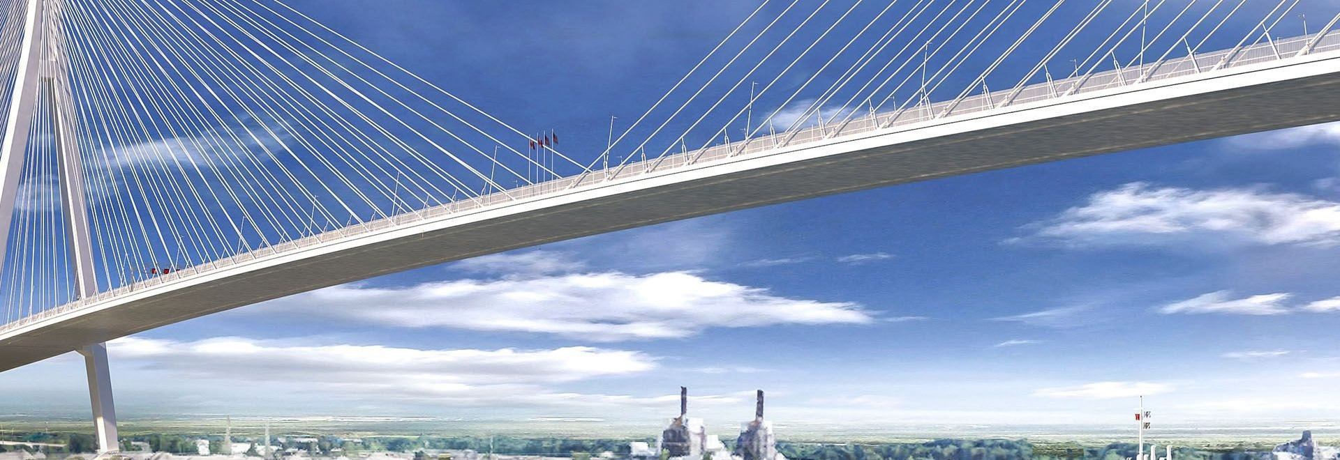 A conceptual drawing of the Gordie Howe International Bridge