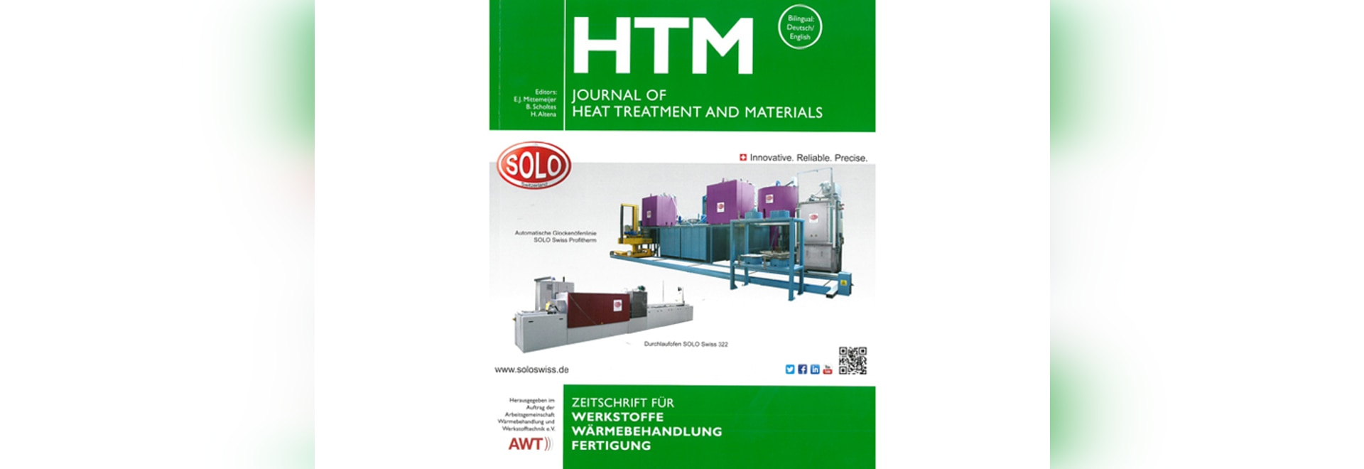 Cover HTM - Journal of Heat Treatment and Materials - Edition 6/2018 - SOLO Swiss