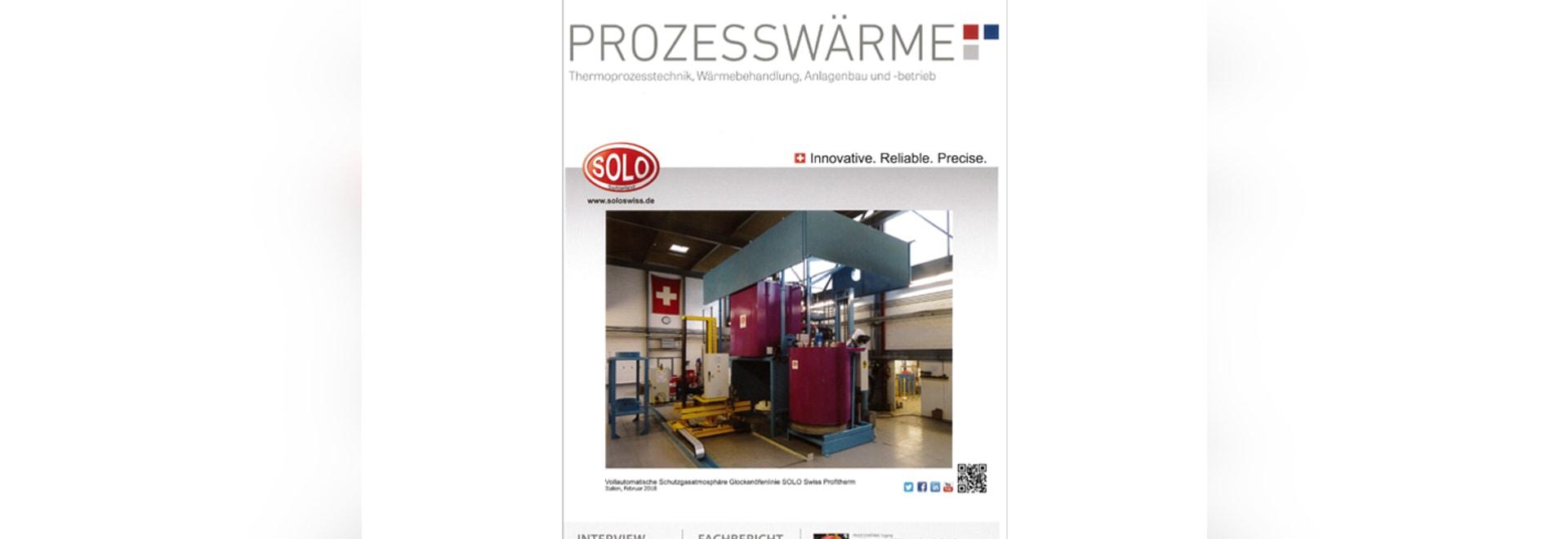 Cover PROZESSWÄRME 03/2018 – SOLO Swiss SA