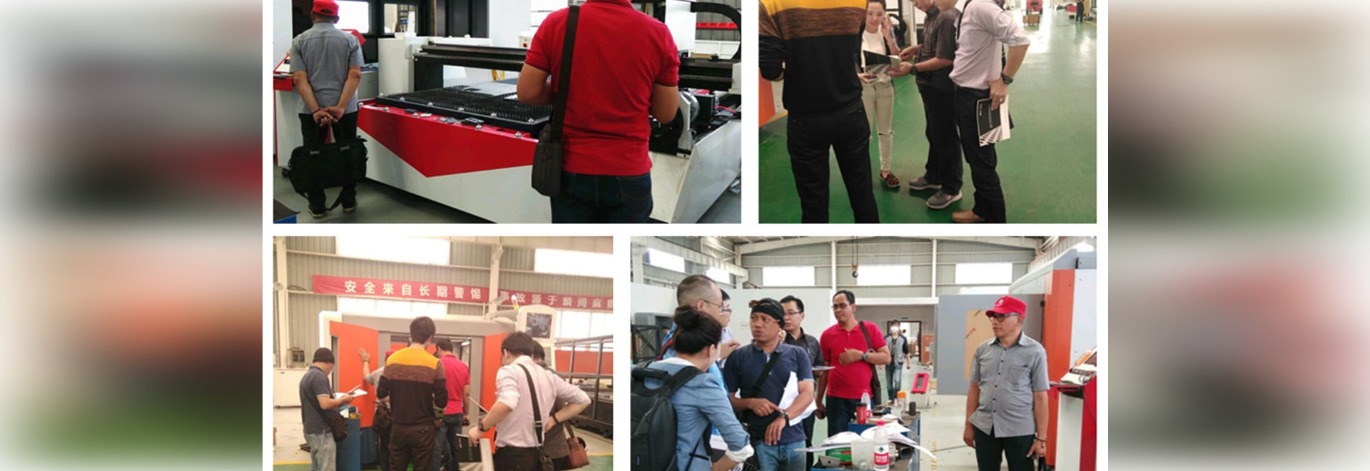 The Customers From Indonesia Visited Our Factory For Seeing The Metal Sheet And Tube Laser Cutting Machine