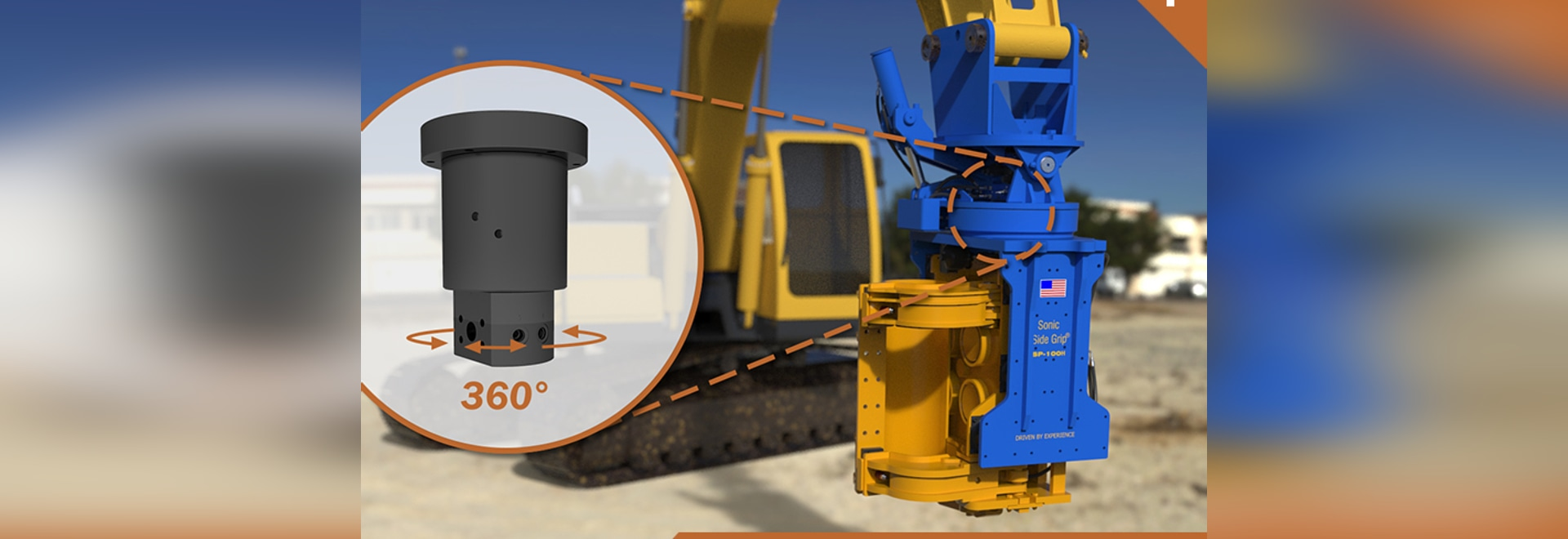 DSTI Hydraulic Swivel Joints for Heavy Equipment Attachments