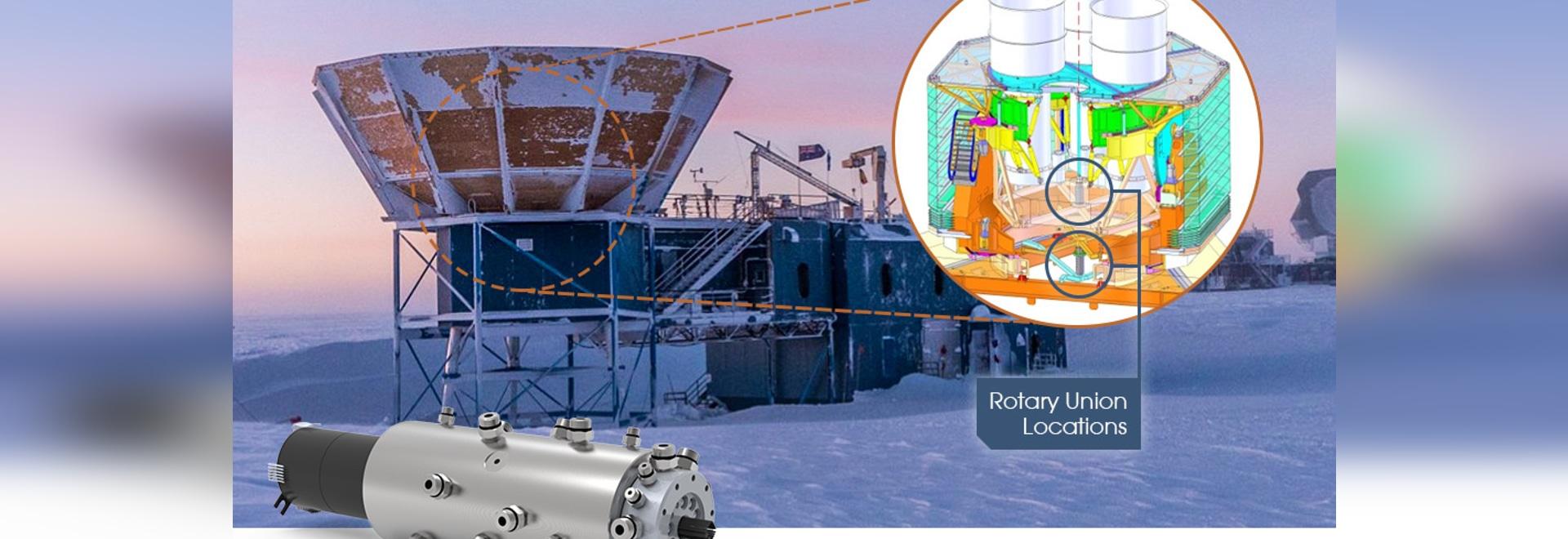DSTI's custom rotary union & electrical slip ring assembly