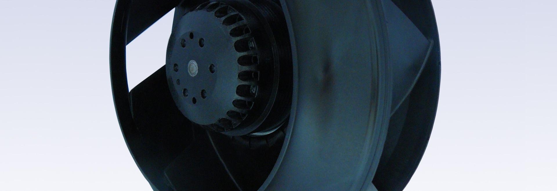 E-Wheel backward fan