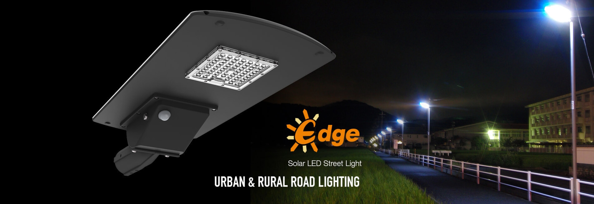 Edge solar LED street light