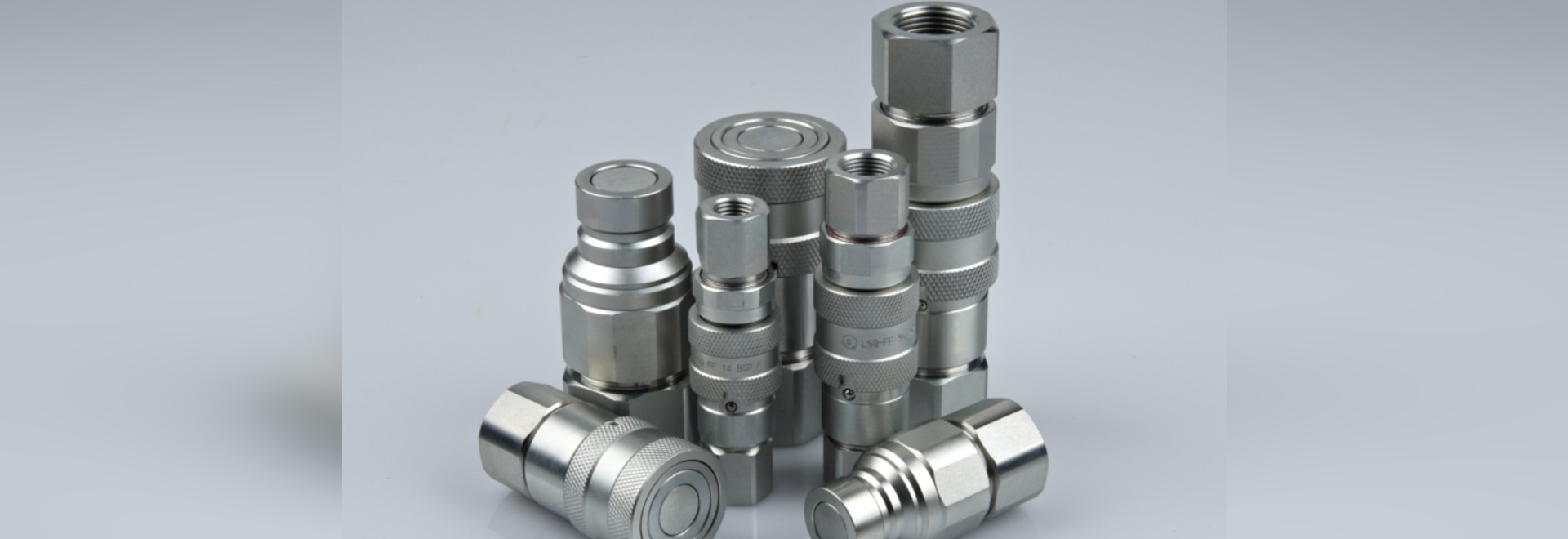 Female quick coupling / threaded / flat face / steel