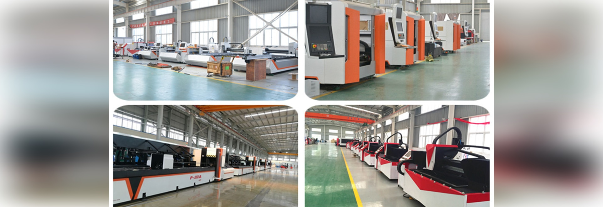 Fiber Laser Metal Sheet And Tube Cutting Machine Production Line In Our Workshop