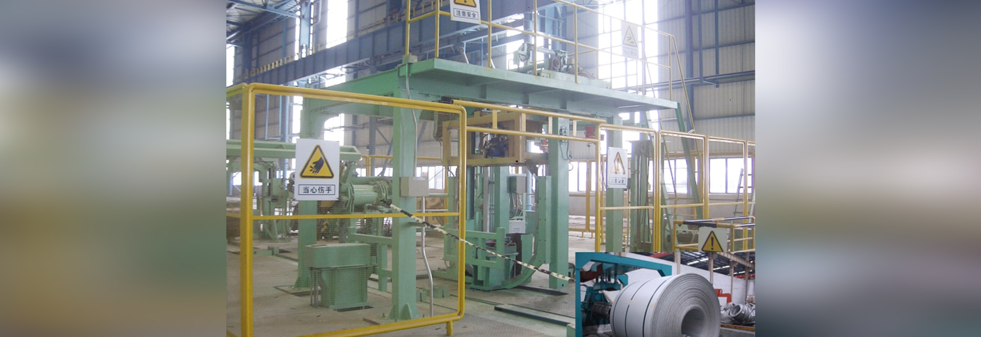 Fully Automatic Strap Packing Machine for Roll Coil