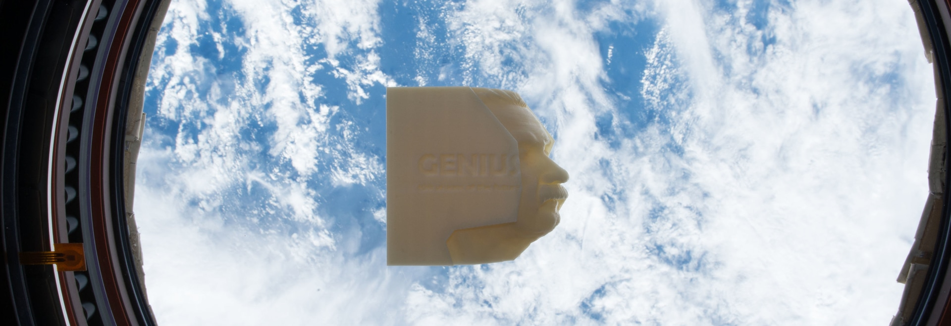 Genius: 100 Visions of the Future, world's first 3D book printed on space station