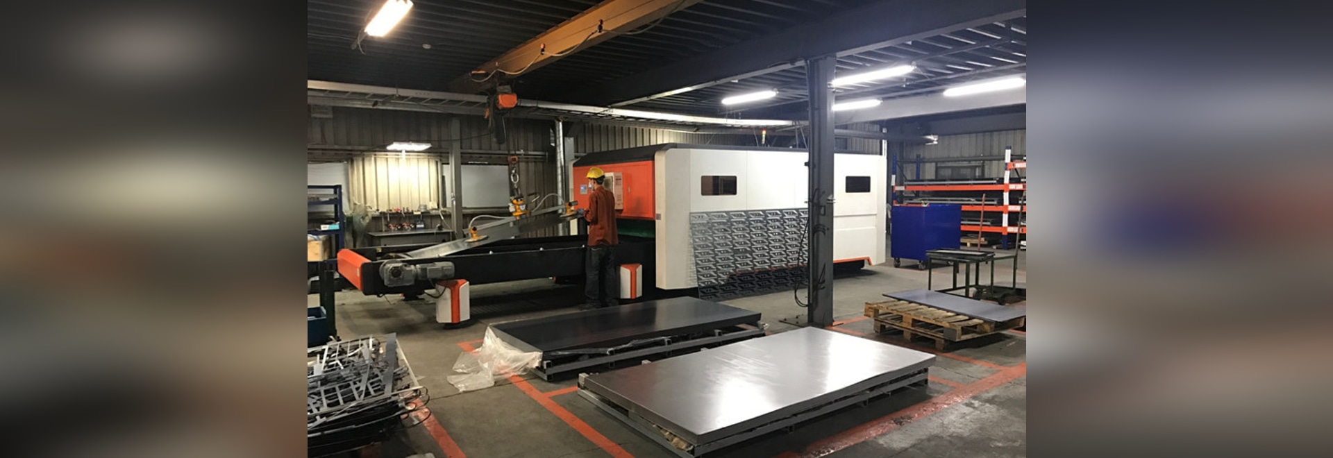 GF-1530JH Fiber Laser Cutting Machine For Metal Sheet / Plate In Taiwan Customer Site