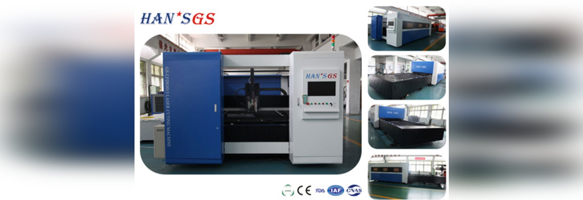 HANS GS Fiber Laser Cutting Machine Gantry structure of high-speed stable and reliable