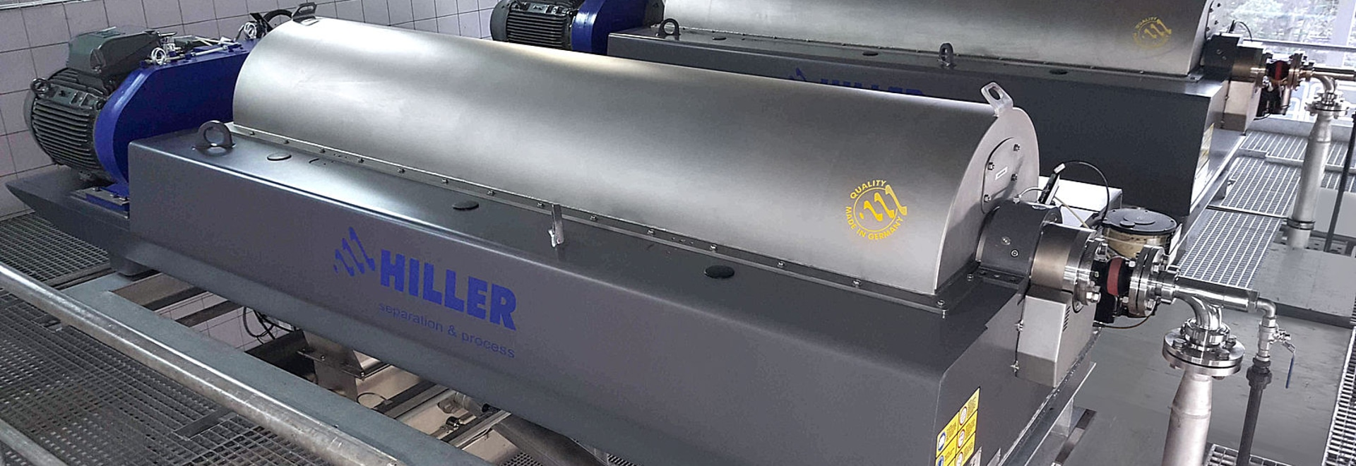 Hiller Decanter Centrifuge for Optimal Dewatering Results at Waste Water Treatment Plant in Switzerland