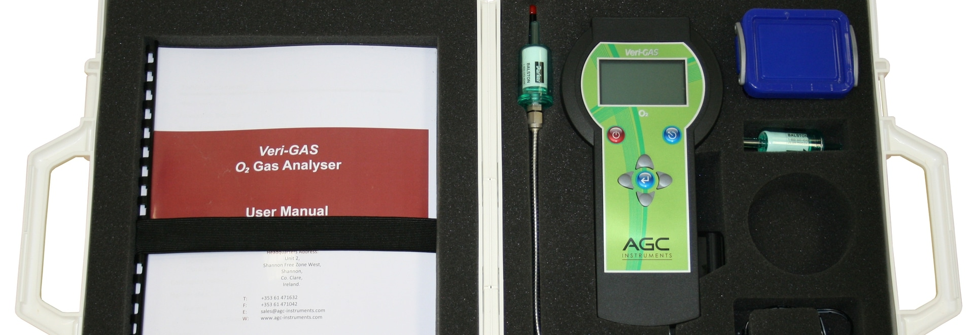 Introducing the new brochure and smarter case for the Veri-GAS analyser range