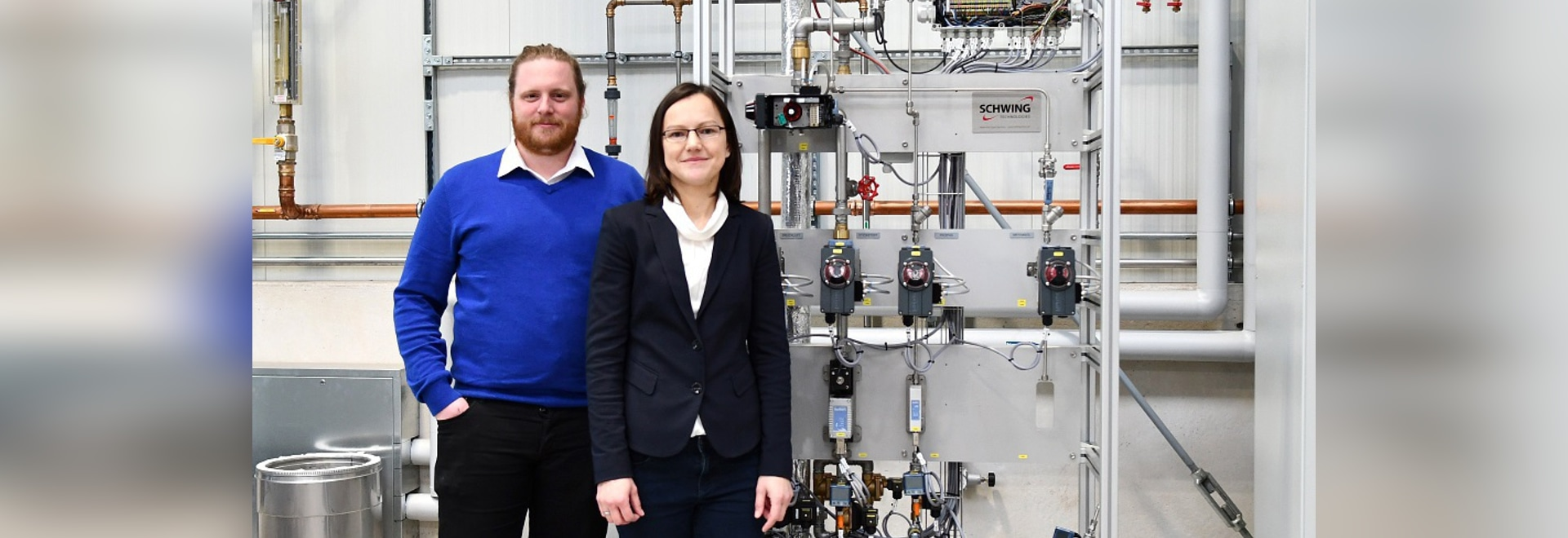 Julian Nienhaus and Natalya Prodan, Experts of Fluidized Bed Process Technology at SCHWING Technologies