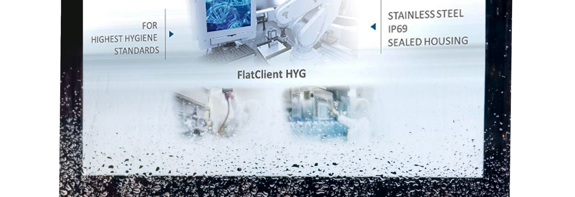 Kontron Introduces the FlatClient HYG Panel PC with IP69K for Hygienically Sensitive Applications