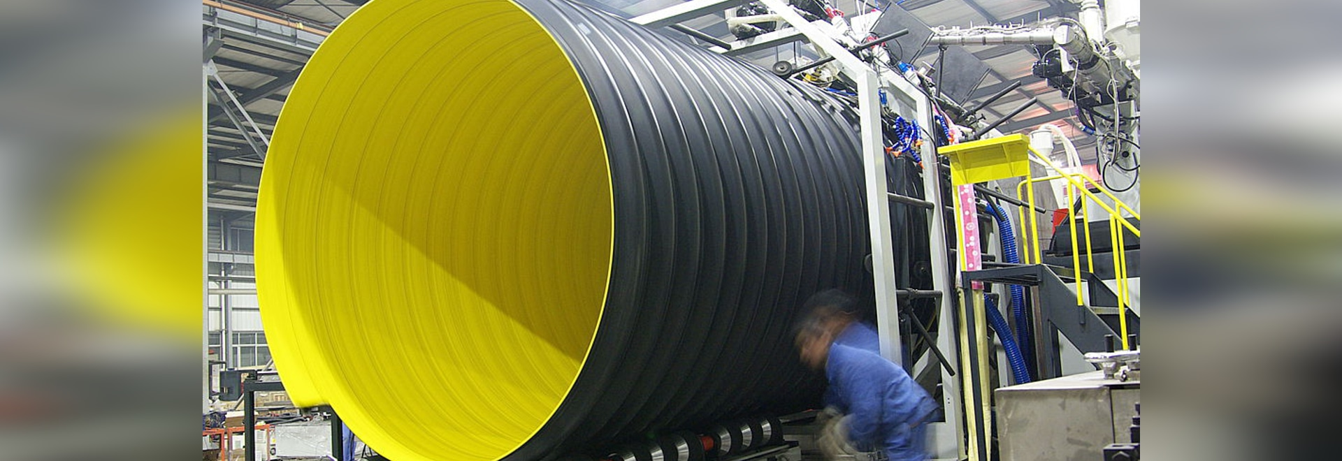 Large Diameter Steel Reinforced Corrugated Plastic Pipe  For The Buried Sewer