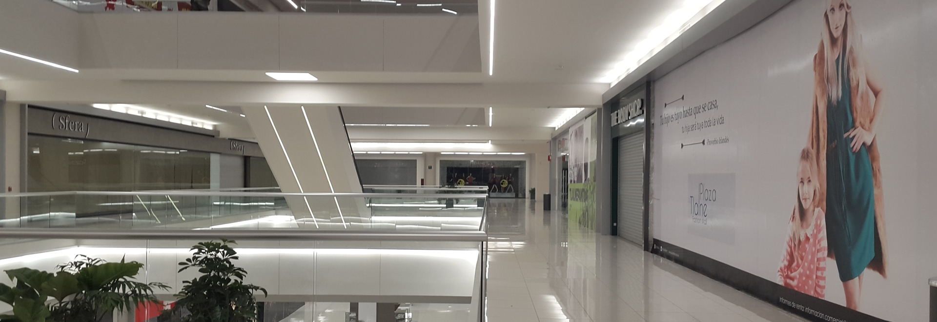 Lighting in commercial spaces