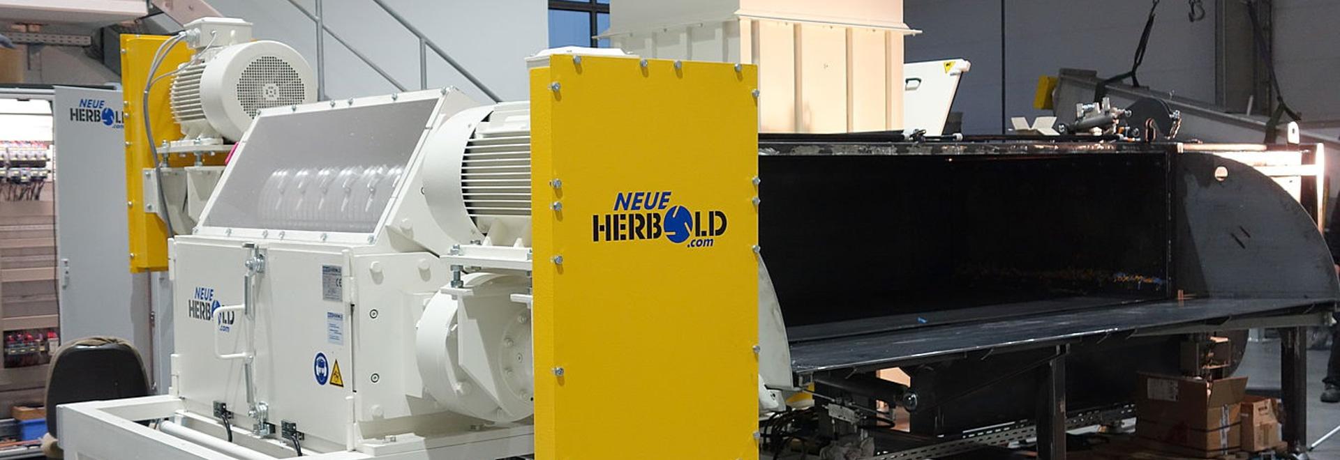 NEUE HERBOLD – pipeshredder Type HZR 1300/2/3/4